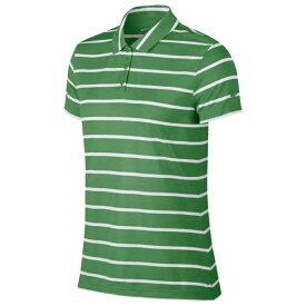 ナイキ レディース ポロシャツ トップス DriFIT Dry Stripe Golf Polo Classic Green/White