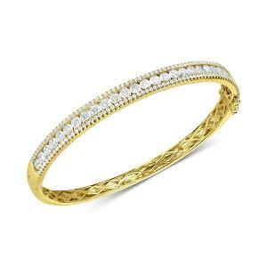 アラベッラ レディース ブレスレット・バングル・アンクレット アクセサリー Cubic Zirconia Bangle Bracelet in Sterling Silver(Also Available in 18k Gold Plated Sterling Silver) 18k Gold Plated/Cubic Zirconia