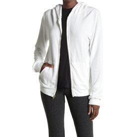 ワイルドフォックス レディース カジュアルパンツ ボトムス Solid Zip Front Brushed Knit Hoodie CLEAN WHITE