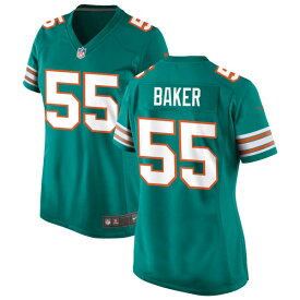 ナイキ レディース ユニフォーム トップス Miami Dolphins Nike Women's Alternate Custom Game Jersey Aqua