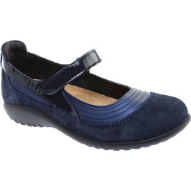 ナオト レディース スニーカー シューズ Kirei Mary Jane Polar Sea Leather/Blue Velvet Suede/Navy Patent