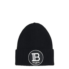 バルマン メンズ 帽子 アクセサリー Balmain Hats In Black Wool black