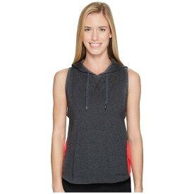 【当日出荷】 アンダーアーマー レディース パーカー・スウェットシャツ Favorite Mesh Sleeveless Hoodie Carbon Heather/Marathon Red/Black 【サイズ M】