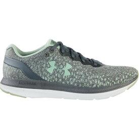 アンダーアーマー レディース スニーカー シューズ Under Armour Women's Charged Impulse Knit Running Shoes Gray/Green