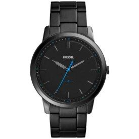 フォッシル レディース 腕時計 アクセサリー Men's The Minimalist Black Stainless Steel Bracelet Watch 44mm FS5308 Black