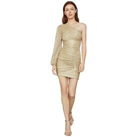ビーシービージーマックスアズリア レディース ワンピース トップス One Sleeve Cocktail Dress Gold