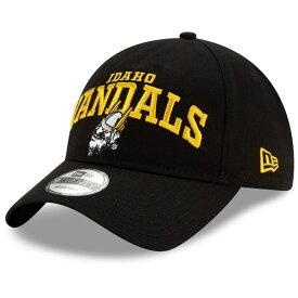 ニューエラ メンズ 帽子 アクセサリー Idaho Vandals New Era Arch Over Logo Cream 9TWENTY Adjustable Hat Black