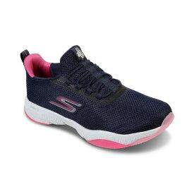 スケッチャーズ レディース スニーカー シューズ Women's Elite Flex - Wasick Slip-on Walking Sneakers from Finish Line Navy, Pink