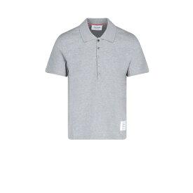 トムブラウン メンズ ポロシャツ トップス Thom Browne Logo Patch Polo Shirt -