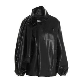 マルタンマルジェラ レディース ジャケット&ブルゾン アウター Maison Margiela Pussybow Faux-Leather Jacket -