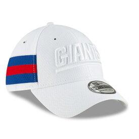 ニューエラ メンズ 帽子 アクセサリー New York Giants New Era 2018 NFL Sideline Color Rush Official 39THIRTY Flex Hat White