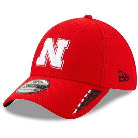 ニューエラ メンズ 帽子 アクセサリー Nebraska Cornhuskers New Era Rush 39THIRTY Flex Hat Scarlet