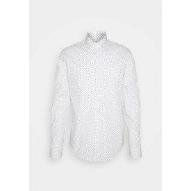 カルバン クライン テイラード メンズ シャツ トップス PRINTED SLIM SHIRT - Formal shirt - white