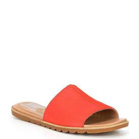 ソレル レディース サンダル シューズ Ella2 Leather Suede Block Slides Orange