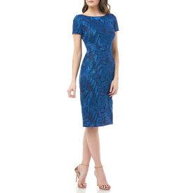 ジェイエスコレクションズ レディース ワンピース トップス Leaf Soutache Cocktail Dress Admiral Blue
