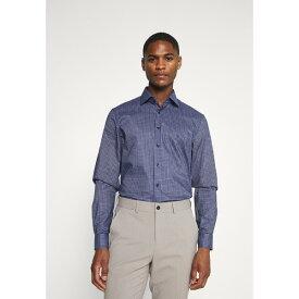 カルバン クライン テイラード メンズ シャツ トップス CHECK EASY CARE - Formal shirt - navy