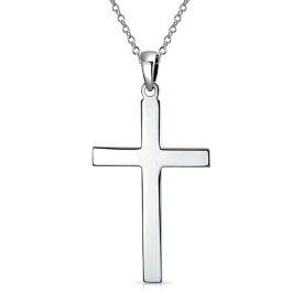 ブリング レディース ネックレス・チョーカー・ペンダントトップ アクセサリー Sterling Silver Cross Pendant Necklace SILVER