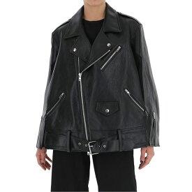 マルタンマルジェラ レディース ジャケット&ブルゾン アウター Maison Margiela Batwing Leather Biker Jacket -