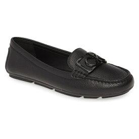 カルバンクライン レディース スリッポン・ローファー シューズ Calvin Klein Ladeca Loafer (Women) Black Leather