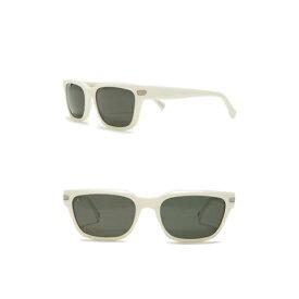 レイン メンズ サングラス・アイウェア アクセサリー Colfax Polarized 57mm Rectangular Sunglasses PEROXIDE/GREEN