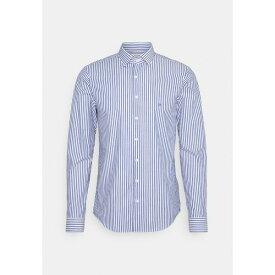 カルバン クライン テイラード メンズ シャツ トップス BOLD STRIPE SLIM - Formal shirt - sodalite blue udod01e6