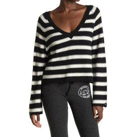 ワイルドフォックス レディース ニット&セーター アウター Leanne Striped Distressed Sweater NIGHT VANILLA