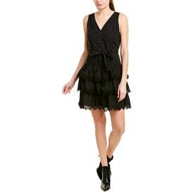 レベッカテイラー レディース ワンピース トップス Rebecca Taylor Embroidered A-Line Dress black