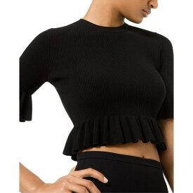 マイケル コース レディース ニット&セーター アウター Michael Kors Collection Collection Ruffle Sweater black