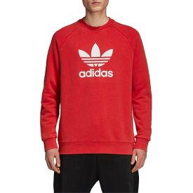 アディダスオリジナルス メンズ パーカー・スウェットシャツ アウター adidas Originals Trefoil Logo Warm-Up Sweatshirt Collegiate Red