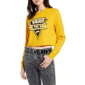 バンズ レディース Tシャツ トップス Vans Breakdown Crop Tee Yellow