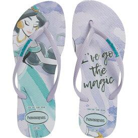 ハワイアナス レディース サンダル シューズ Havaiana Slim - Disney Princess Flip Flop (Women) Lavender