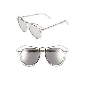 カレンウォーカー レディース サングラス&アイウェア アクセサリー Karen Walker 'Marguerite' 52mm Sunglasses Silver/ Clear