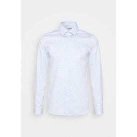 カルバン クライン テイラード メンズ シャツ トップス PRINTED EASY CARE SLIM - Formal shirt - blue unvl01ab