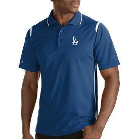 アンティグア メンズ ポロシャツ トップス MLB Merit Short Sleeve Polo Shirt Los Angeles Dodgers Royal