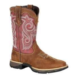 ヂュランゴ レディース ブーツ&レインブーツ シューズ DRD0349 Lady Rebel Western Boot Briar Brown/Rusty Red Full Grain Leather/Textile