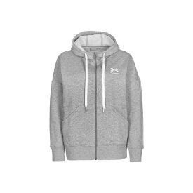アンダーアーマー レディース パーカー・スウェットシャツ アウター Zip-up hoodie - grey