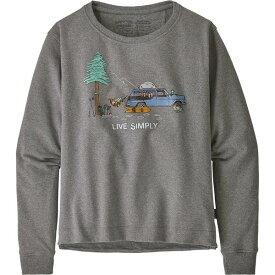パタゴニア レディース パーカー・スウェットシャツ アウター Live Simply Lounger Uprisal Crew Sweatshirt Gravel Heather/Snow