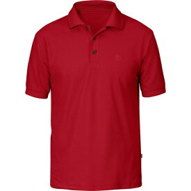 フェールラーベン メンズ ポロシャツ トップス Crowley Pique Short-Sleeve Shirt Deep Red