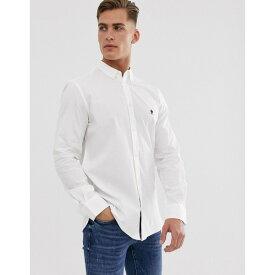 フレンチコネクション メンズ シャツ トップス French Connection oxford button down logo shirt White