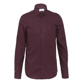 カルバン クライン テイラード メンズ シャツ トップス FLOWER PRINT - Formal shirt - red vbkz0124