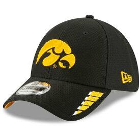 ニューエラ メンズ 帽子 アクセサリー Iowa Hawkeyes New Era Rush 39THIRTY Flex Hat Black