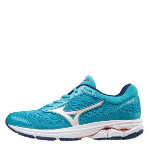 ミズノ レディース ランニング スポーツ Wave Rider 22 Ladies Running Shoes Blue/Wht/Peach