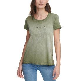 ダナキャランニューヨーク レディース Tシャツ トップス Garment Washed Logo T-Shirt Rosemary