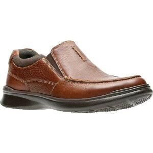 クラークス メンズ スリッポン・ローファー シューズ Men's Clarks Cotrell Free Moc Toe Shoe Tobacco Full Grain Leather