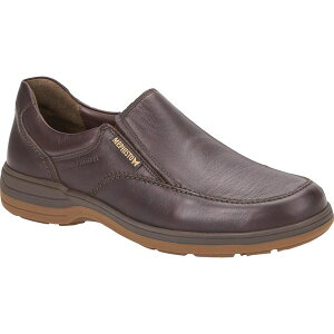 メフィスト メンズ スニーカー シューズ Men's Mephisto Davy Waterproof Slip-On Dark Brown Leather