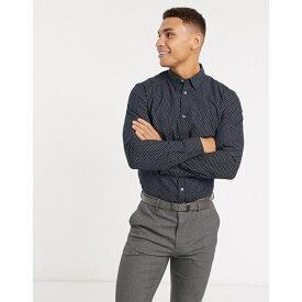 フレンチコネクション メンズ シャツ トップス French Connection slim-fit tear print shirt Navy