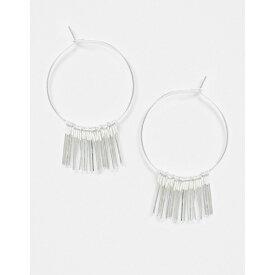 フレンチコネクション レディース ピアス&イヤリング アクセサリー French Connection silver chain tassel earrings Silver