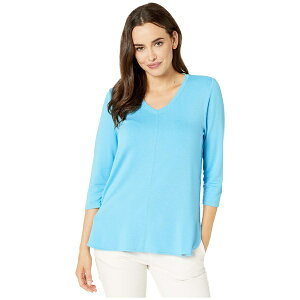 FDJフレンチドレッシングジーンズ レディース シャツ トップス Baby French Terry V-Neck 3/4 Sleeve Top Artic Blue
