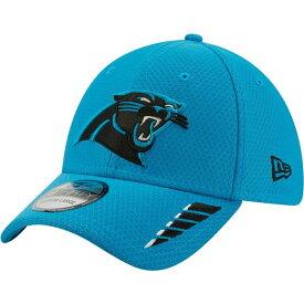ニューエラ メンズ 帽子 アクセサリー New Era Men's Carolina Panthers Rush 39THIRTY Cap Aqua Or Turquoise 01