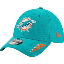 ニューエラ メンズ 帽子 アクセサリー New Era Men's Miami Dolphins Rush 39THIRTY Cap Aqua Or Turquoise 01